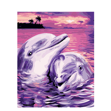 Abstract Dolphin.40x50cm,Painting By Numbers,DIY,wall Art,Living Room Decoration,Scenery,Figure,Animal,Flower,Cartoon
