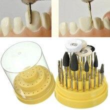 41 шт. силиконовая резина зуботехнической лаборатории поворотный Вольфрам Сталь полировки боры 2,35 мм отбеливание зубов Стоматолог оборудования с коробкой