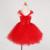 Niñas de Dibujos Animados Vestido de Minnie Vestido Rojo Rosa Niños Chica Lindo del Vestido del Tutú de Tul Vestido de Fiesta de Cumpleaños de Navidad Para Niños Traje