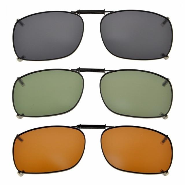 9226dad9f C78 Eyekepper Gris/Marrón/G15 Lente 3 pack Clip on gafas de Sol ...