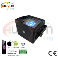 Outdoor wedding corridor uplights with rechargeable battery power remote control by phone app led dj lights wedding table light