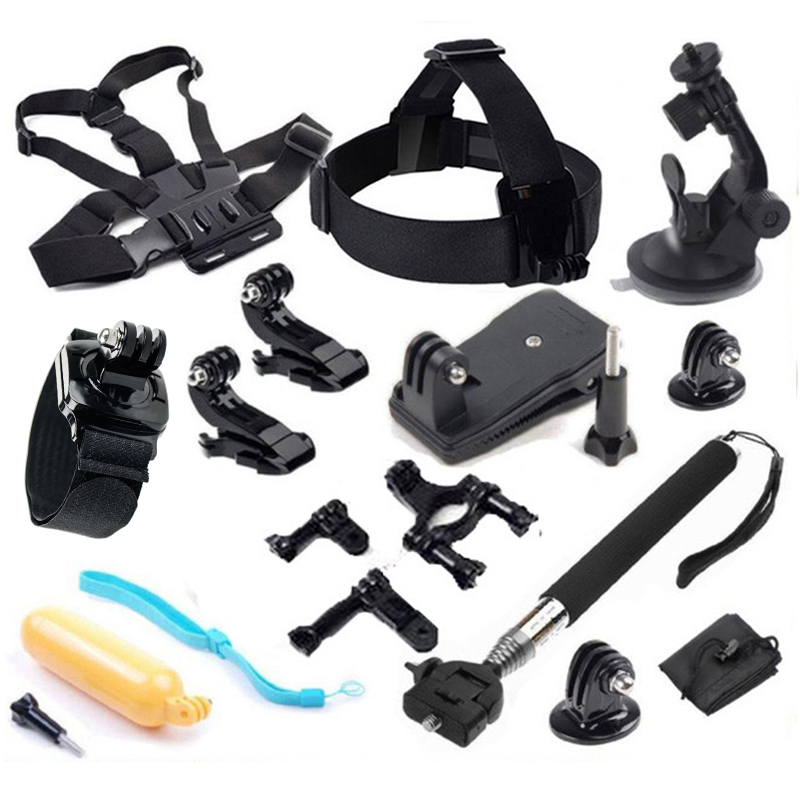 gopro hero 5 accessories with selfie stick for gopro hero5 hero44/3plus/3/2 xiaomi yi 4k sjcam sj5000x elite 4k action cam