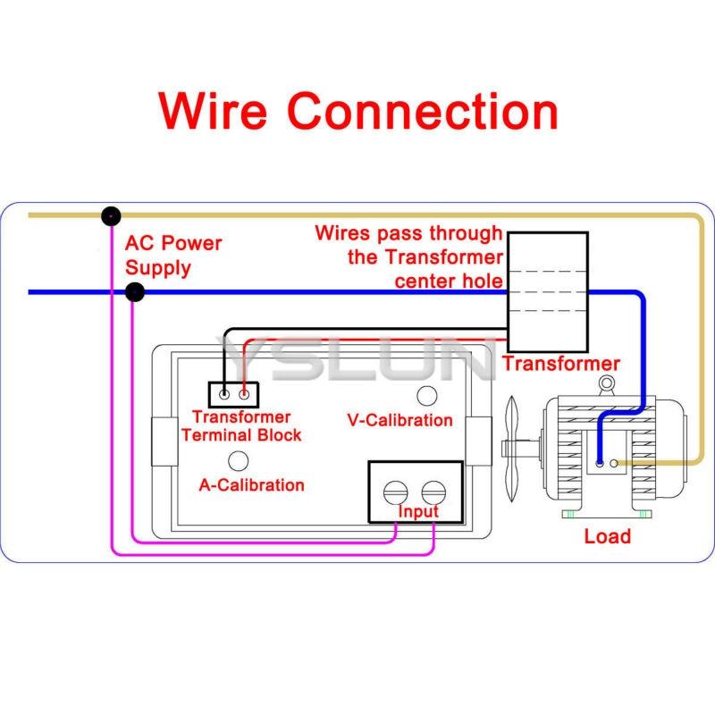 220v 200 500v 0 50 0a ac digital lcd volt amp panel meter high rh aliexpress com