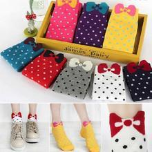 10 pairs 3D Cute Bow Socks