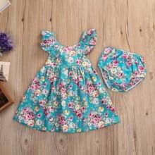 2018 Summer Infant Dress 2pcs/set Suspenders With Underwear Flower Girl Dresses Bodysuit Tutu Jumpsuit