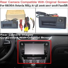Rear View Camera Connect Original Factory Screen Monitor For SKODA Octavia MK3 A7 5E Facelift 2016 2017 2018 High Quality Camera original and sbc81203 rev a7 rc high quality