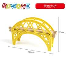 Train Toys Railway Track Yellow Bridge Fit for brio Truck Car Brio Toys for Boys Engine Models Building Toy(China)