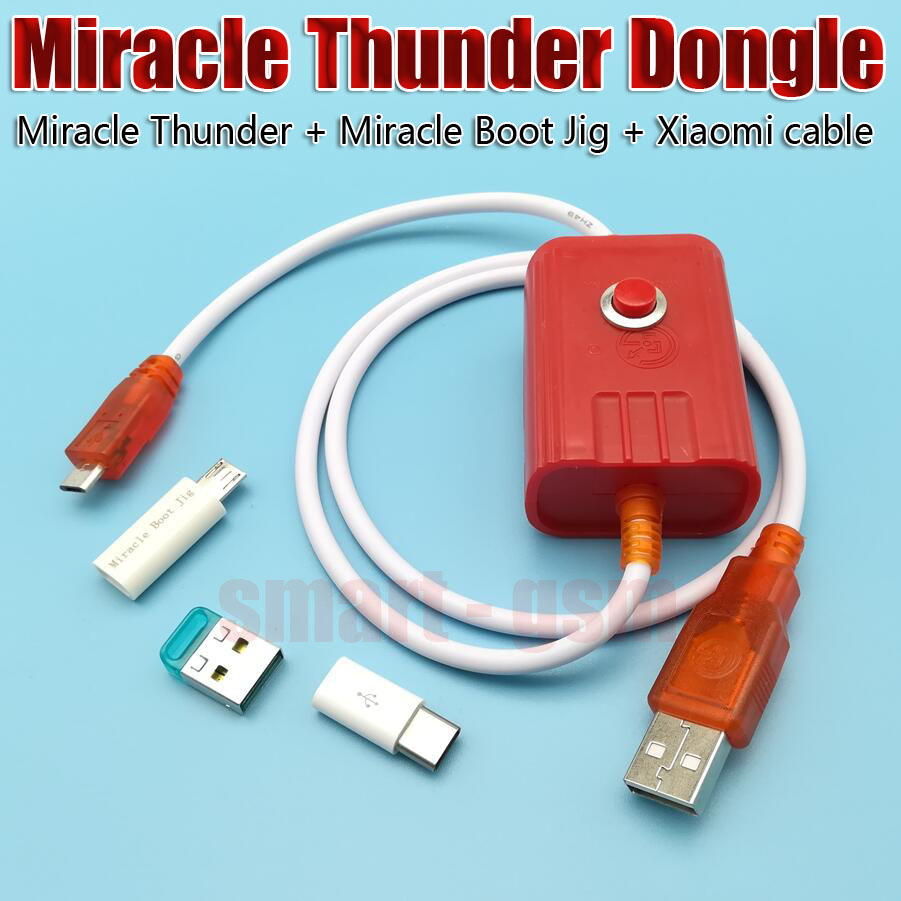 NEWS Miracle Thunder dongle Miracle Thunder pro Miracle Thunder key Miracle Boot Jig and cable dont need Miracle box