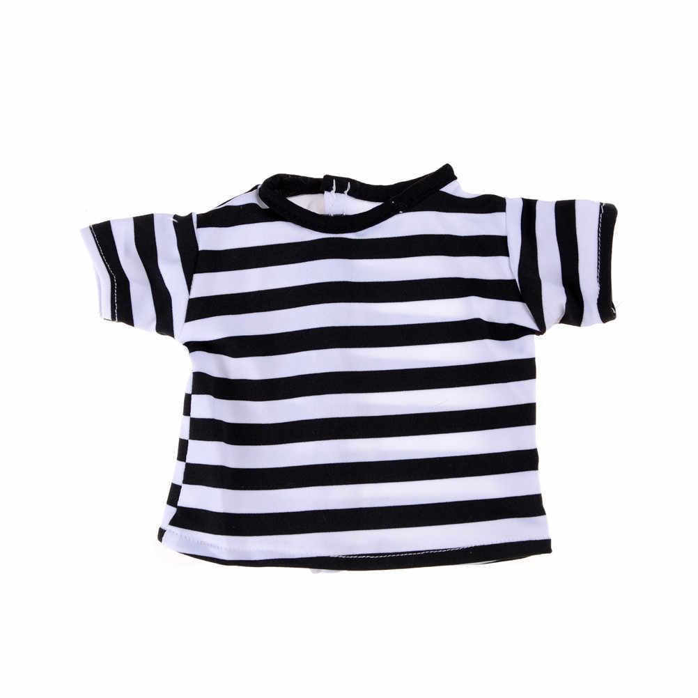 ファッション人形 Tシャツ & ショルダーストラップ 18 ''人形用の衣装を設定私たちの世代人形ドレスアップ服アクセサリー