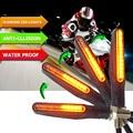 Motorrad Blinker Licht Flexible 12 LED Blinker Indikatoren Blinkers Blinker FÜR s1000xr triumph street triple gs 500      -