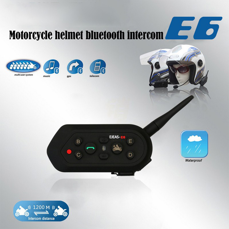 Image 5 - 1300M Helmet Intercom 2pcs motorcycle interphone bluetooth moto helmet intercom interphone Hi Fi stereo headset walkie talkie-in Mobile Radio from Automobiles & Motorcycles