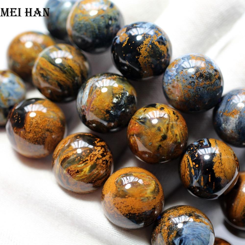 Livraison gratuite (13 perles/ensemble/102g) A + + naturel 18 + 0.2mm namibie Pietersite ronde perles étonnantes pierre pour la conception de fabrication de bijoux-in Perles from Bijoux et Accessoires    1