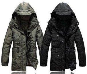 Down militari of the man's clothing winter jacket men winter jacket  removable liner hardy men down jacket coat winter long D002