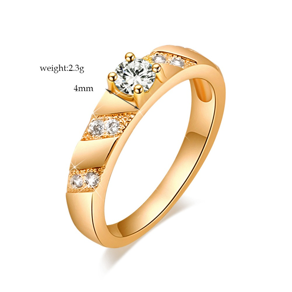 2017 Girlfriend Fashion Charm Crystal Small Zircon New Ring Female Jewelry Wedding Anniversary Birthday Gift
