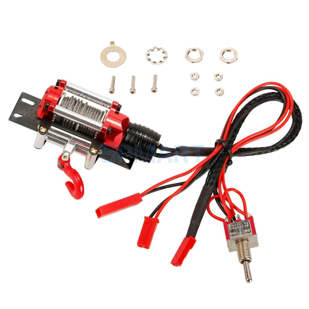 RC Steel Wire Automatic Winch Control System Type Switch for 1/10 Scale Traxxas HSP Redcat CC01 Axial SCX10 RC4WD D90