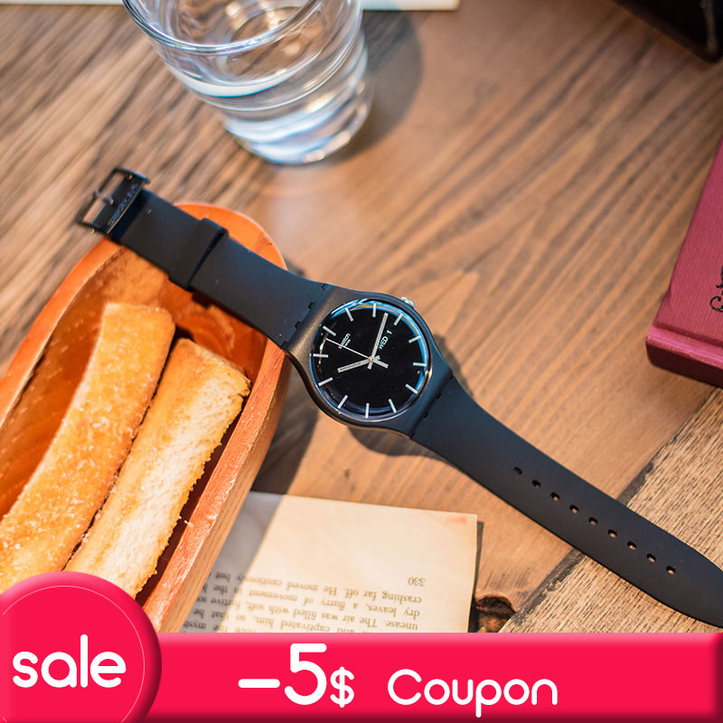 Swatch original quartz watch fashion and leisure waterproof women's watch SUOB720 цена и фото