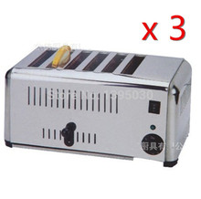 3PCS/Lots Free Shipping By DHL EST-6 Household Automatic Stainless Steel of 6 Slice Toaster Bread Machine Home Appliance