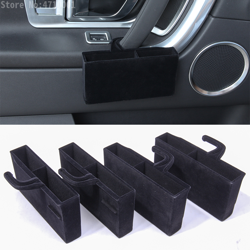 For Land Rover Discovery Sport 2015 2018 ABS Plastic Car Door Handle Storage Box Phone Card Tray Accessories