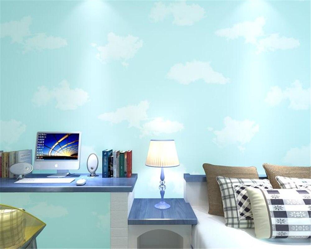 Beibehang tapety blauwe hemel witte wolken kinderen prinses meisje