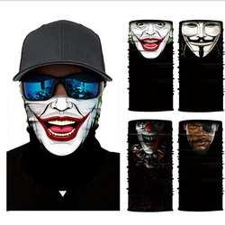 3D цифровой печати клоун для верховой езды спорт солнцезащитный крем Универсальный Бесшовные платок Маска воротник шарф маска