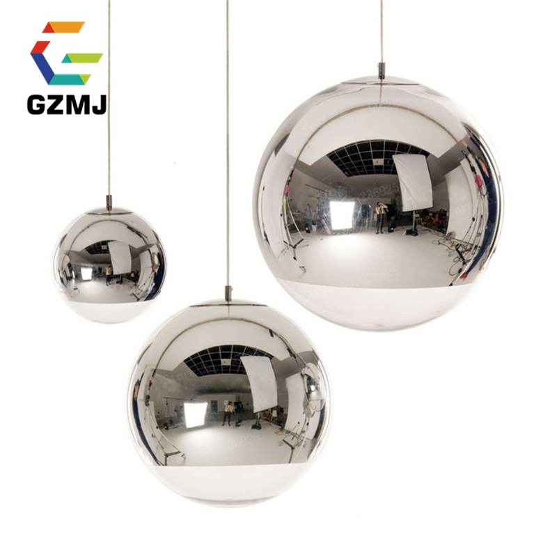 Wonderland Modern Classic Electroplate Famous Design Silver Glass Mirror Durface Star Ball for Palor Home Bar Room E27 110V-220V