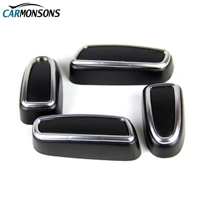 Carmonsons Prilagoditev gumba za sedeže ABS Chrome Dodatna oprema za - Dodatki za notranjost avtomobila - Fotografija 1