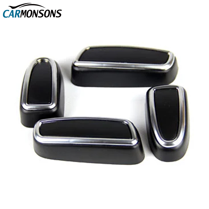 Carmonsons 시트 버튼 조정 ABS 크롬 트림 액세서리 랜드 - 자동차 인테리어 용 액세서리 - 사진 1