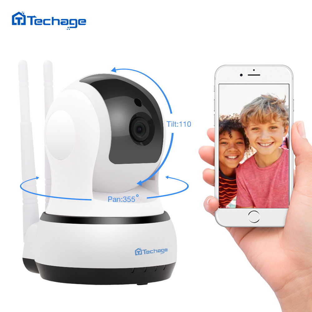 Techage 720P 1080P Wireless IP Camera Two Way Audio Security Surveillance Indoor Dome CCTV Wifi Camera Night Vision Baby Monitor-in Surveillance Cameras from Security & Protection