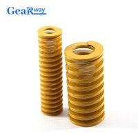 Gearway желтая сжатая пружина Легкая загрузка пресс-формы пружина TF40x40/40x45/40x50/40x60/40x65 мм компрессионная пружина