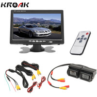 7 Inch Car Monitor Rear View Camera Auto Parking Backup Reverse Headrest Monitor HD 800 480