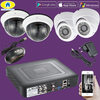 Golden Security 4CH CCTV DVR Surveillance Security System Outdoor 720P AHD Camera Night Vision DVR CCTV