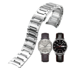 ISUNZUN Watch Band Women's For MIDO Commander M021.431A Watch Strap Brand Stainless Steel Watchbands For Women Free Shipping free shipping 1 set large size ipg stainless steel black waterproof watch crowns for watch repair