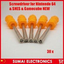 Бесплатная Доставка 30 шт. Новый 4.5 мм Безопасности Отвертка Набор Бит для Nintendo NES SNES SEGA N64