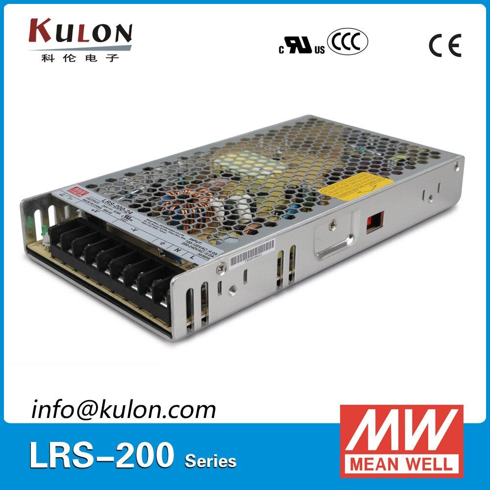 Mean well LRS-200 single output ac-dc SMPS 200W 48V/4.4A 36V/5.9A 24V/8.8A 15V/14A 12V/17A 5V/40A 4.2V/40A 3.3V/40A upsMean well LRS-200 single output ac-dc SMPS 200W 48V/4.4A 36V/5.9A 24V/8.8A 15V/14A 12V/17A 5V/40A 4.2V/40A 3.3V/40A ups