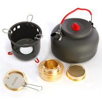 alocs CW K04 PRO Fashion Casual Outdoor Kettle Set Outdoor Water Kettle Travel Camping Picnic Cookware Ultralight Pot