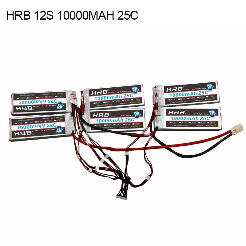 HRB 12 S 10000 мАч 25C Высокие спецификации литий-полимерный аккумулятор с XT90 XT90S сборки для электрических скейтбордов