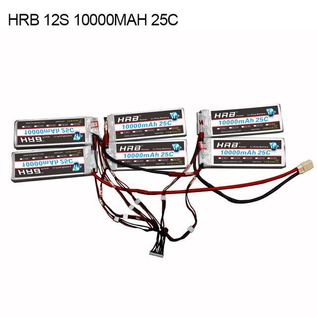 HRB 12 s 10000 mah 25C haute spec Au Lithium Polymère batterie avec XT90 XT90S l'assemblée pour planches à roulettes électriques