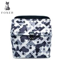 FOXER2016 new high-end luxury fashion leather casual camouflage cloth shoulder bag brand 100% high quality of well-known women