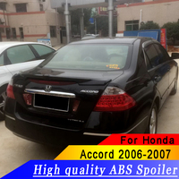 For Honda Accord 2006 2007 Spoiler ABS material quality black or white or primer car rear spoiler for Accord
