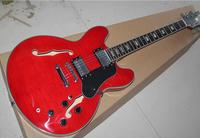 Free shipping Factory Custom New ES Semi Hollowbody Electric Guitar Faded Cherry 335 F hole body Jazz guitar 11YUE ES