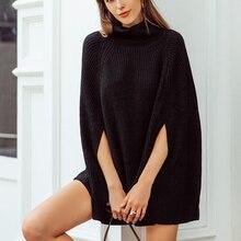 Вязаный свитер с воротником-хомутом, Женский Повседневный пуловер Camel, уличная одежда на осень и зиму, женские свитера и пуловеры