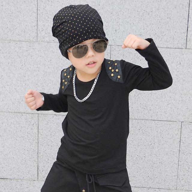 Niños camisetas niños camisetas del muchacho para niños bobo choses niños ropa de algodón 2017 resorte caliente estilo fresco Hip hop 100-160 cm