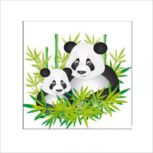 1 pcs Switch Stickers Panda Mom and Little Panda wall sticker Furniture Living Room TV Wall Decoration Home Border(China)
