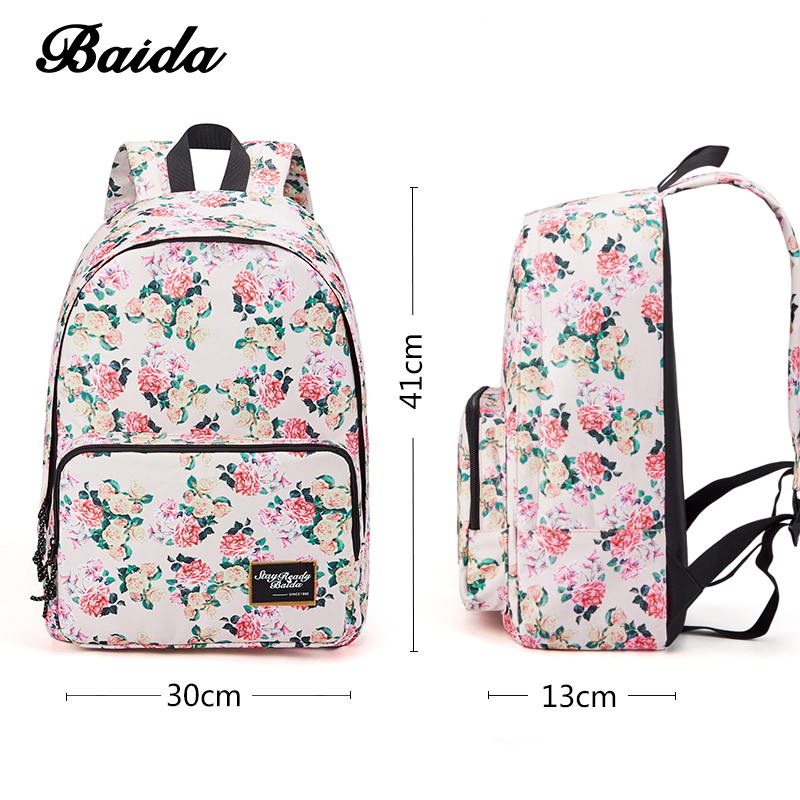 Aliexpress.com : Buy BAIDA Brand Fashion Floral Print Backpack ...