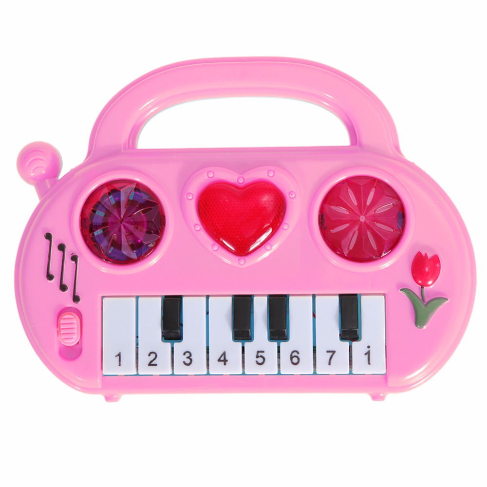 Kids Music Toy Children Musical Developmental Mini Piano Portable Sound  Educational Learning Music Funny Toy Baby Color Random-in Toy Musical