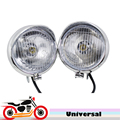 Universal 12v Motorcycle Auxiliary Headlight Fog Light Cruiser Bobber Chopper Driving Spot Light For Harley Honda Suzuki Yamaha