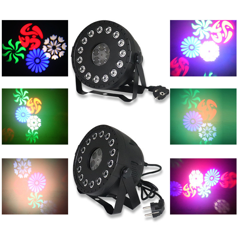 RGB DJ LED Sound Activated Stage Par Lights with Remote Control Compatible DMX512 3 In 1 30W for Wedding Event Party Festival