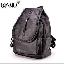 Wanu Для женщин кожаный рюкзак Хорошее качество женский Школьный Модные женские Рюкзаки овчины как подарок для подруги жена