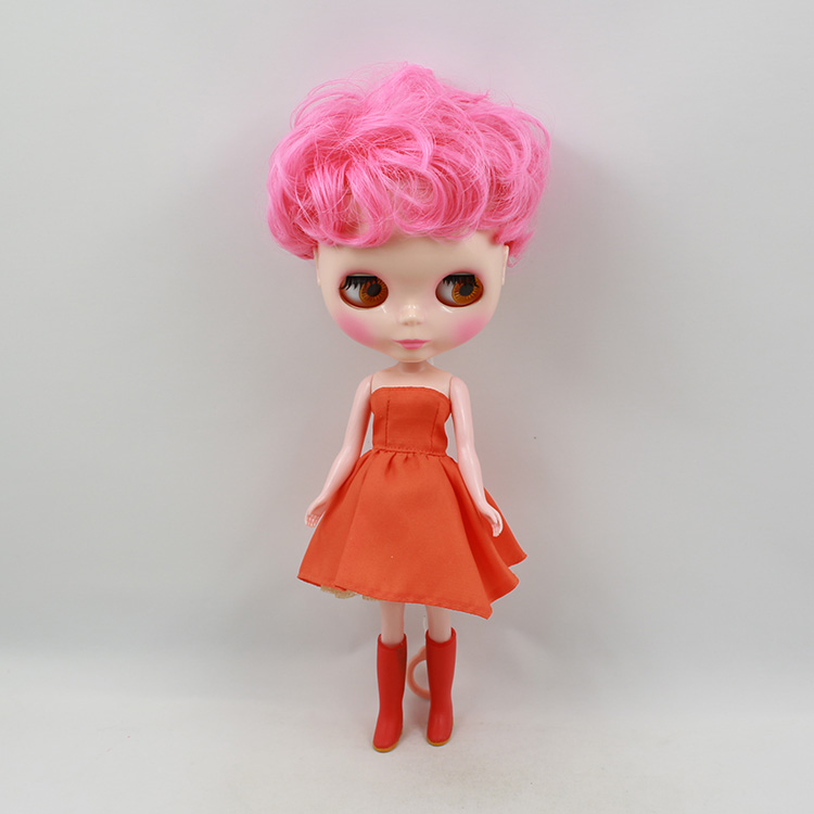 Bjd 1/6 toys Blyth doll pink short curly hair fashion doll modified makeup bjd dolls for girls birthday gift uncle 1 3 1 4 1 6 doll accessories for bjd sd bjd eyelashes for doll 1 pair tx 03