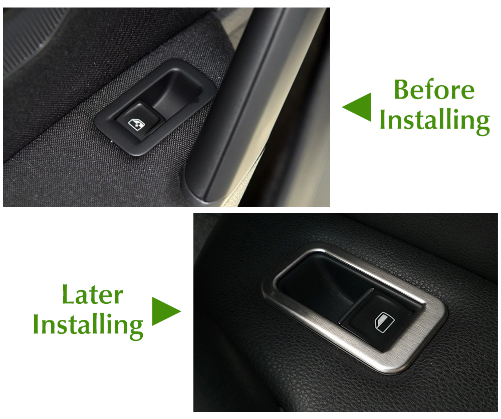 Image 3 - Car Accessories Stainless Steel Car Interior Decoration Door Window Switch Cover Trims For Volkswagen VW Golf 7 MK7-in Car Stickers from Automobiles & Motorcycles